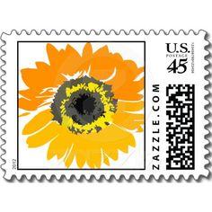 Sunflower Art Postage Stamps