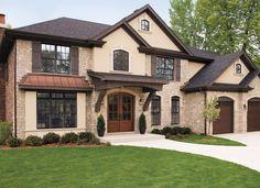 Dark windows? Stately Stone Home - Pella ProLine 450 Series Double-Hung Windows | Pella Photo Gallery