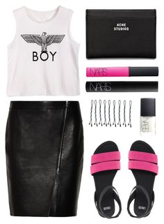 """Untitled #335"" by style-dreams ❤ liked on Polyvore featuring ASOS, Alexander Wang, NARS Cosmetics, BOBBY and Acne Studios"