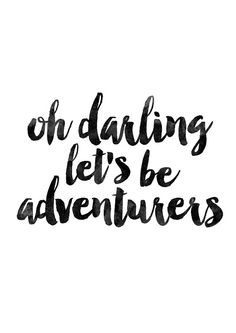 Oh Darling let's be adventurers Nursery by MotivationalThoughts