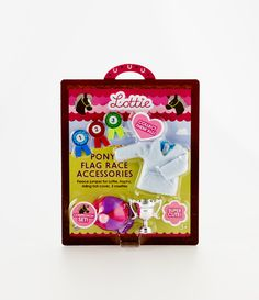 Lottie Dolls Pony Flag Race Accessory Set - see more at: http://www.lottie.com/collections/all-products/products/pony-flag-race-accessory-set