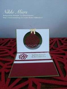 Stampin Up Holiday Catalogue 2015......Delicate Ornaments Thinlits, Embellished Ornaments stamp set