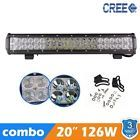 """CREE 20""""inch 126W LED Lights Bar Combo Work Lamp 4WD UTE OFFROAD TRUCK TRACTOR"""