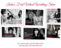 Virtual Wedding Show by #IndianRoots - Designers | www.akanksharedhu.com | @Indian Roots