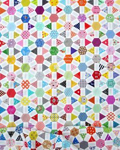 Wagon Wheel Quilt ~ English Paper Piecing Click on any image for a larger view.It has been a while since I have posted an update on the progress of my Wagon Wheel Quilt. Today I am very happy to be a