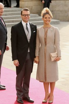 Princess Victoria and Prince Daniel at The Wedding Of Prince Guillaume Of Luxembourg & Stephanie de Lannoy - Official Ceremony