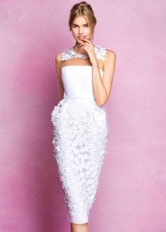 2a23212ef47 Angel Sanchez Fall 2016 Short Flower Dress Article  Crisp Gowns with Floral  Details by Angel