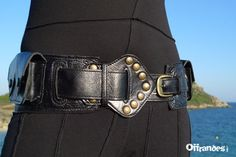 Utility Leather Hip Belt BaG   MEDINA   BLACK /// by offrandes, $120.00