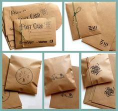 30 sobres papel madera kraft misionero con tu logo ó diseño