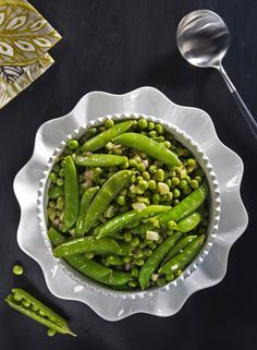 Peas With Sesame Vinaigrette
