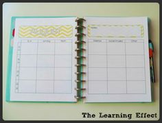 The Learning Effect: My 2013-2014 Chevron Teacher Planner $15.  Free downloads from this lady for the each subsequent yearly calendar.