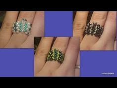 Beaded butterfly ring and bracelet Beading Tutorial by HoneyBeads
