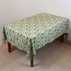 Table Decor Summer Floral Cotton Indian Tablecloth Rectangular 152 X 228: Amazon.co.uk: Kitchen & Home