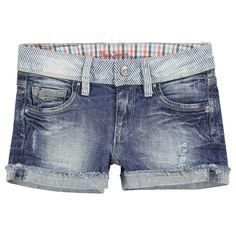 Pepe Jeans Short en denim bleu stoné Denim - 32049   Melijoe.com