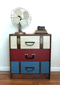 suitcase dresser ikea rast hack, diy, painted furniture