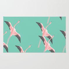 pink, flamingo, birds, nature...