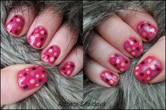 sonidlo´s nail polishes: Puntíkované nehty (Bětka)