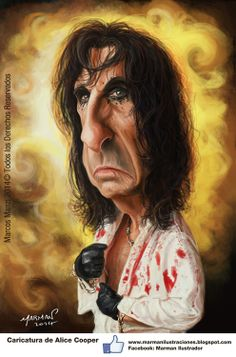 Caricatura de Alice Cooper Alice Cooper Caricature