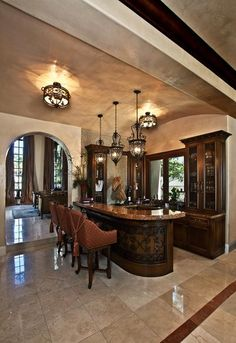 Mediterranean Family Room Great Room Design, Pictures, Remodel, Decor and Ideas - page 24