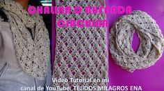 Bufanda o Chalina Circular tejida a crochet FÁCIL Y RAPIDO