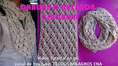 Bufanda o Chalina en forma Circular tejida a crochet facil y rapida