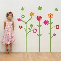 Little Garden kids wall decal – If your child loves nature, give her a beautiful flower garden on her wall! Let her show you where to 'plant' giant flowers for her to enjoy. Flowers make any room a girly paradise! Flower Wall Decals, Kids Wall Decals, Wall Stickers, Cool Wall Art, Wall Decor, Room Decor, Daughters Room, Little Girl Rooms, Floral Wall