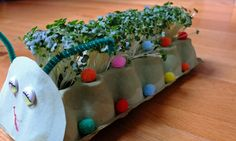 I featured this cheery chap a few weeks ago, today I'd like to show you how to grow cress creatures!
