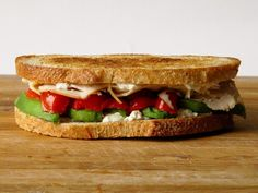 Goat Cheese, Turkey, Avocado and Peppadew Grilled Cheese: http://www.stylemepretty.com/living/2015/04/12/17-mouthwatering-grilled-cheese-recipes-from-grilled-cheese-social/