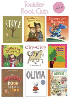 """toddler book club"" -- Eva approved books via Happiness is Eva"