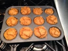 21DF Approved Pumpkin Muffins!  |  21 DAY FIX CONTAINERS (FOR 2 MUFFINS) 1/2 Red, 1/3 Purple, 1 tsp