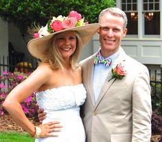 Carey Roberts Design, floral, flower, derby, hat, floral hat, arrangement, boutonneire