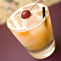 Great Cocktail Recipes: Blended Peach Whiskey Sour - Kathy Casey's Liquid Kitchen