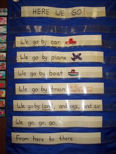 I think that you can use a Transportation theme to teach lots of curriculum objectives. In science I covered force and motion, push and pull, and float and sink. In math we classified, measured, … Preschool Songs, Preschool Classroom, Classroom Activities, Classroom Ideas, Preschool Projects, Music Activities, Preschool Themes, Preschool Lessons, Classroom Inspiration