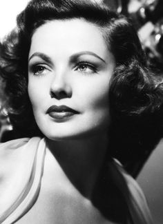 Gene Tierney starred in one of my all time favorite movies, Laura