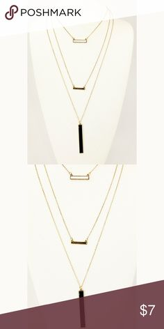 """New layered necklace Length approx 17.5"""" and 2.5 extend. Lobster claw clasp Jewelry Necklaces"""
