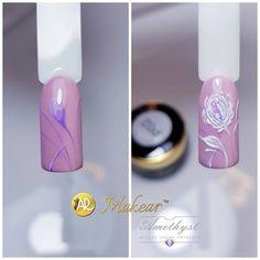 "Polubienia: 30, komentarze: 3 – Amethyst MakeAR Academy (@amethyst_nailspa) na Instagramie: ""Tutorial #flower #X02 & P02 @makear.pl #love #nails #beautynails #beautiful #love #handmade…"""