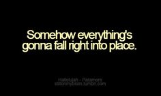 """Hallelujah"" - Paramore"