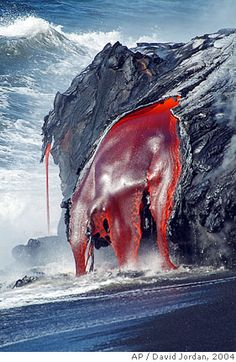 The image of raw, organic rock, a gaping wound in the earth, is so clear here. Lava.