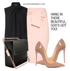 """LIZ"" by elizabethhorrell ❤ liked on Polyvore featuring Topshop, Lanvin, Lautēm and Christian Louboutin"