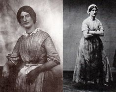 "Hanna Cullwick, maid of all work; right, Hannah ""in her dirt."" from Victorian Working Women."