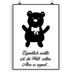 Poster DIN A3 Teddybär aus Papier 160 Gramm  weiß - Das Original von Mr. & Mrs. Panda.  Jedes wunderschöne Poster aus dem Hause Mr. & Mrs. Panda ist mit Liebe handgezeichnet und entworfen. Wir liefern es sicher und schnell im Format DIN A3 zu dir nach Hause.    Über unser Motiv Teddybär  Teddybären oder Knuddelbären sind heute nicht mehr nur bei Kindern beliebt. In jedem Kinderzimmer ist ein süßer flauschiger Bär zu finden. Der Teddy begleitet schon Generationen von Menschen durch ihre…