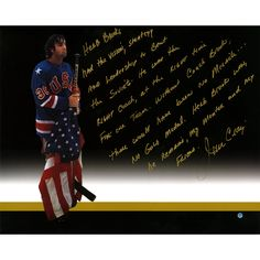 Hockey great and 1980 USA Olympic team member Jim Craig has personally hand-signed this 16x20 story photo.. 100% Guaranteed Authentic. Includes Steiner Sports Certificate of Authenticity. Features Tam