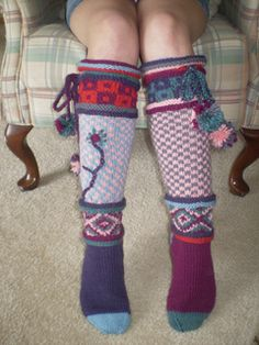 Ravelry: #09 Embroidered Knee-Highs pattern by Kristin Nicholas