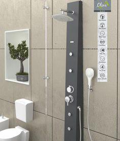 Jaaz Olive Black Shower Panel