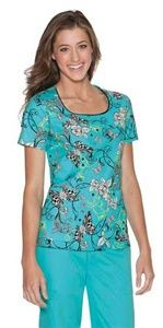"""Skechers Women's Scoop Neck Scrub Top in """"Checkered Flight"""" 25735C-CKFL A flattering scoop neck top features a slightly curved front yoke, two roomy front patch pockets with stitched down pen holder, back elastic for shaping and side vents. Center back length: 24 1/2"""" $25.50 #scrubs #scrubcouture #nurses #doctors"""