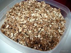 Brown sugar and cinnamon granola. Very easy and cheap recipe for sweet, crunchy granola.