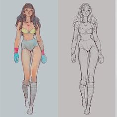 Basic anatomy for character design. I just love the tutorials of simple and easy to digest. Character Sketches, Female Character Design, Character Design Inspiration, Art Sketches, Character Poses, Character Art, Animation Character, Art Poses, Drawing Poses