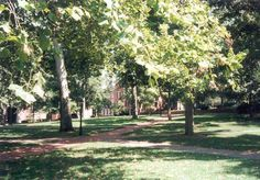 COLLEGE GREEN  ---  Buildings on OU's West Green have good reason to be haunted: legend has it that the West Green is built on an Indian burial ground. The river which once ran near here can still be heard, as can the chants of native Americans.