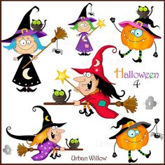 HALLOWEEN 4  Png clip art images. by LittlePumpkinsPix on Etsy