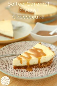 Salted Caramel Pretzel Cheesecake Recipe @akitchenaddict